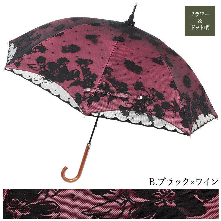 日傘 完全遮光 レディース 長傘 おしゃれ 晴雨兼用 UVカット率99%以上 遮光率100% 二重張り story-web 09