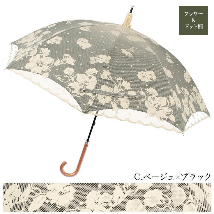 日傘 完全遮光 レディース 長傘 おしゃれ 晴雨兼用 UVカット率99%以上 遮光率100% 二重張り story-web 10