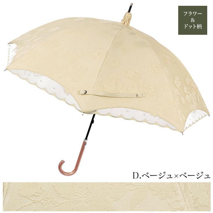 日傘 完全遮光 レディース 長傘 おしゃれ 晴雨兼用 UVカット率99%以上 遮光率100% 二重張り story-web 11