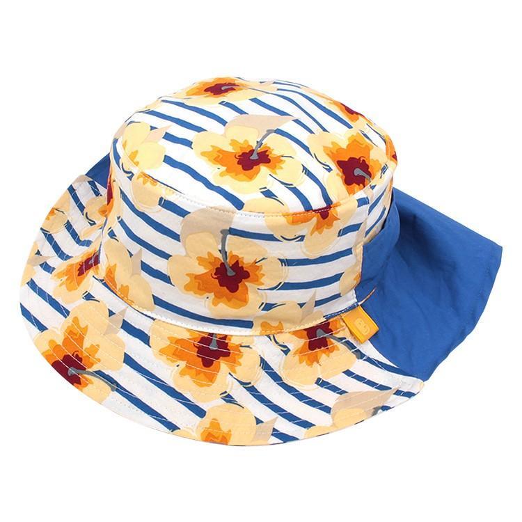 送料無料 帽子 キッズ ハット 子供用 花柄 2WAYポシェット収納 あごひも付き story-web 06