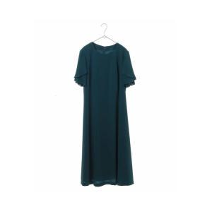HIROKO BIS GRANDE / 【洗濯機で洗える】ペタルスリーブワンピース|ストライプデパートメントPayPayモール店