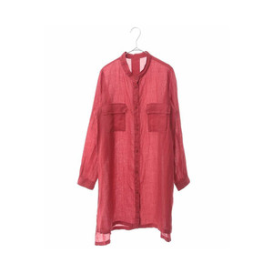 HIROKO BIS GRANDE / 【洗える】リネン染ロングデザインシャツ|ストライプデパートメントPayPayモール店