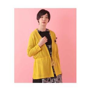 Jocomomola / 指人形ブローチ付きブークレーカーディガン|ストライプデパートメントPayPayモール店