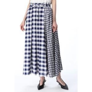 SUGAR ROSE / ギンガムチェック切り替えスカート ストライプデパートメントPayPayモール店