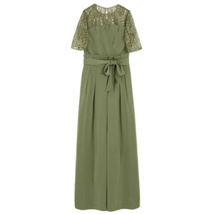 GIRL / GIRL/ガール レースブラウス&ベアトップジャンプスーツのセットアップ結婚式パンツドレス・お呼ばれパーティードレス|ストライプデパートメントPayPayモール店