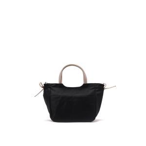 b4BRONTIBAYPARIS / ナイロンA4トートバッグ「アレッサ」 (ブラック*ゴールド)|ストライプデパートメントPayPayモール店