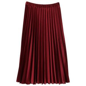 BRAHMIN / BRAHMIN/ブラーミン サテンプリーツ スカート アウトレット|ストライプデパートメントPayPayモール店