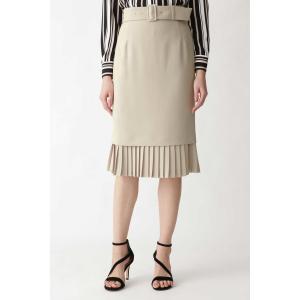 PINKY&DIANNE / ダブルクロス裾プリーツスカート|ストライプデパートメントPayPayモール店