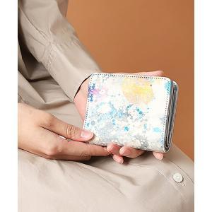 IEye's / 誰かの為の青 二つ折りLファスナー財布|ストライプデパートメントPayPayモール店