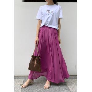 Droite lautreamont / ワッシャーカラーロングスカート|ストライプデパートメントPayPayモール店