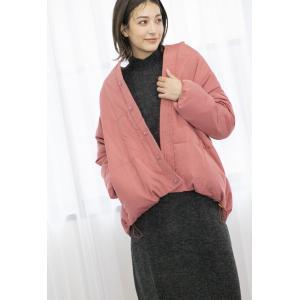 Ketty Cherie / ノーカラー中綿ミドルコート|ストライプデパートメントPayPayモール店