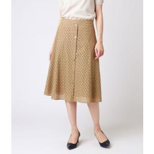 NEWYORKER / バイアスチェック刺繍レース 美人フレアスカート|ストライプデパートメントPayPayモール店