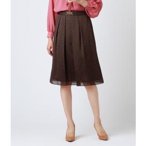 NEWYORKER / チェーンモノグラムプリント ビット使いスカート|ストライプデパートメントPayPayモール店