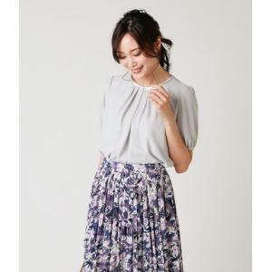 NEWYORKER / ビーズ刺繍 5分袖ブラウスカットソー(スーツインナー対応)|ストライプデパートメントPayPayモール店