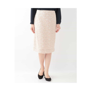 OFUON / フラワーレースタイトスカート|ストライプデパートメントPayPayモール店