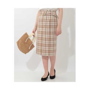 OFUON / ベルト付きチェック柄タイトスカート|ストライプデパートメントPayPayモール店
