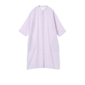 UCHINO / ウチノ / 内野 / マシュマロガーゼ ボタンあきワンピース ヴァイオレット・ピンク 2色展開|ストライプデパートメントPayPayモール店