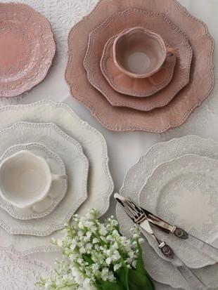 【La Ceramica V.B.C ラ・セラミカ イタリア】 ディナー皿(022) ディナープレート イタリア製 輸入食器 シャビーシック アンティーク風 洋食器