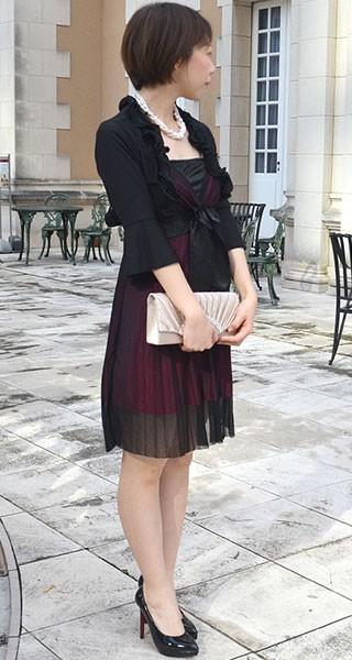 ふりふりボレロで格上げ冬の結婚式スタイル☆