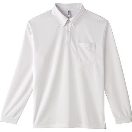 ポロシャツ ドライ 長袖 ボタンダウン レディース (ユニセックス) メンズ ポケット 白 黒 ネイビー 無地 介護 ゴルフ 仕事 制服 styleequal 21