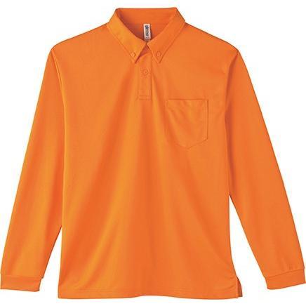 ポロシャツ ドライ 長袖 ボタンダウン レディース (ユニセックス) メンズ ポケット 白 黒 ネイビー 無地 介護 ゴルフ 仕事 制服 styleequal 24