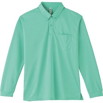 ポロシャツ ドライ 長袖 ボタンダウン レディース (ユニセックス) メンズ ポケット 白 黒 ネイビー 無地 介護 ゴルフ 仕事 制服 styleequal 25