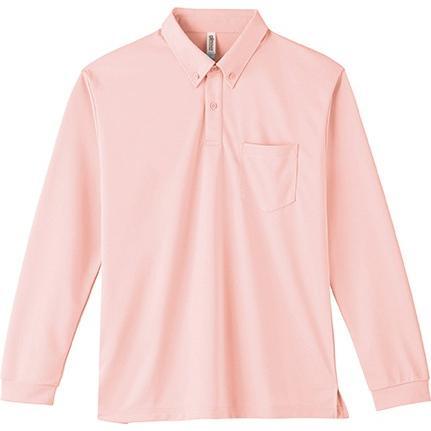 ポロシャツ ドライ 長袖 ボタンダウン レディース (ユニセックス) メンズ ポケット 白 黒 ネイビー 無地 介護 ゴルフ 仕事 制服 styleequal 23