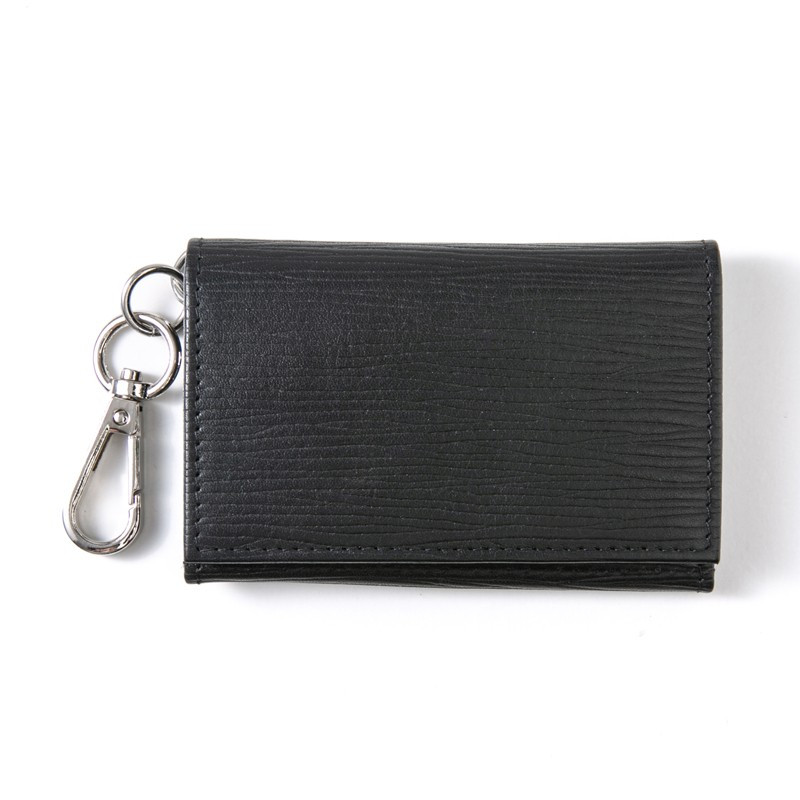 キーケース メンズ レディース 革 かわいい 小銭入れ 名入れ カードケース 三つ折り シボ コインケース 財布 ジップ フック おしゃれ|styleequal|18