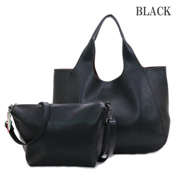 メーカー再販売開始となりました GUSCIO グッシオ 12-0486-2 2WAYトート ブラック バッグインバッグ仕様 本体軽量|stylewebdirect|02