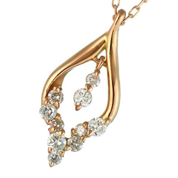 ネックレス レディース 18金 ゴールド ダイヤモンド ネックレス ハート オープン ハート K18 ホワイトゴールド 結婚 10周年記念【今だけ代引手数料無料】|suehiro|11