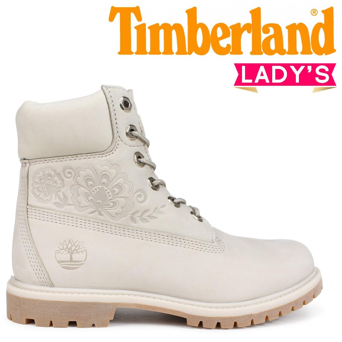 Timberland ブーツ レディース 6インチ ティンバーランド 6-INCH PREMIUM BOOTS A1SXO Wワイズ グレー