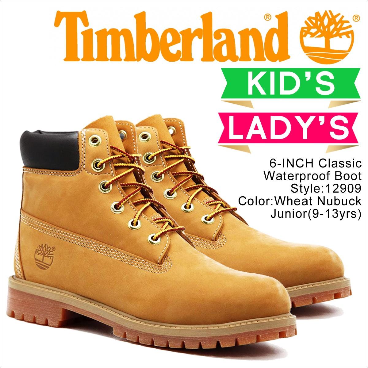 Timberland レディース ブーツ 6インチ ティンバーランド JUNIOR 6INCH PREMIUM WATERPROOF BOOTS 12909 プレミアム ウォータープルーフ [9/5 追加入荷]