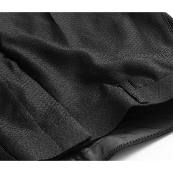 スラックス ウォッシャブル ノータック テーパードスリムスラックス ローライズ メンズ スタイリッシュ ポリエステル|suit-style|20