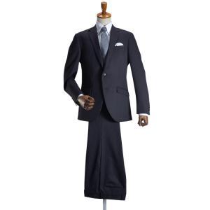 メンズスーツ ビジネス スリム 定番カラー ウール混素材 オールシーズン 春夏秋冬 2つボタン 洗えるパンツウォッシャブル プリーツ加工 紳士|スーツスタイルMARUTOMI