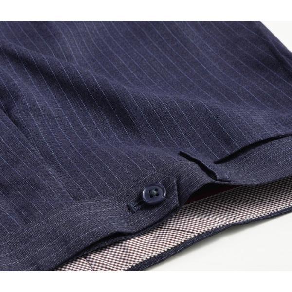 スラックス スリム メンズ COOLMAX クールマックス ノータック ローライズ ウォッシャブル クールビズ 春夏 夏|suit-style|27
