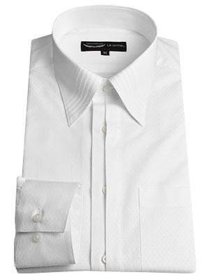 セミフライフロントのワイシャツ