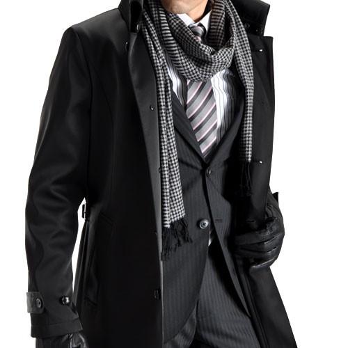 スーツ姿にも使える上質なマフラー&お洒落な巻き方!