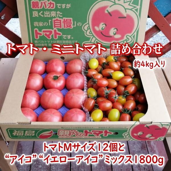 親バカトマトとミニトマトの詰め合わせ 約4kg いわき市産 選べるミニ suketoma 20