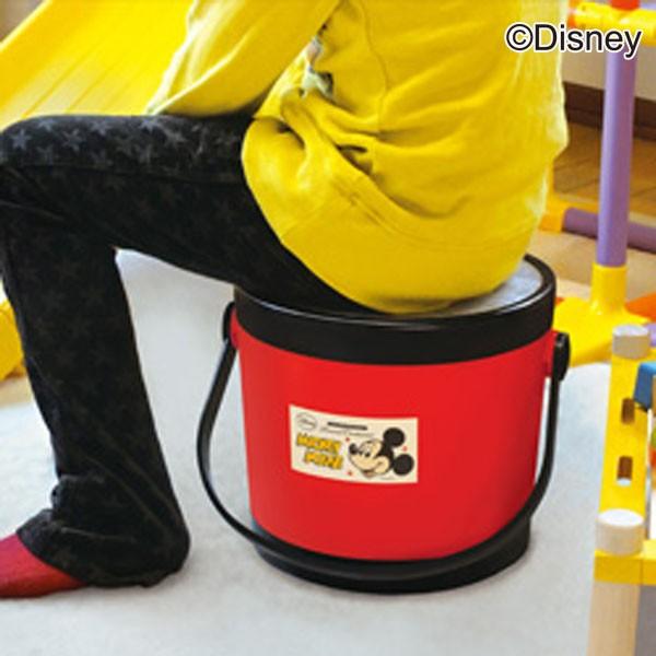 【バケツコンテナ座れるコンテナ収納踏み台ディズニー錦化成ミッキーマウスミニーマウスラウンドコンテナ(S)ピップ】