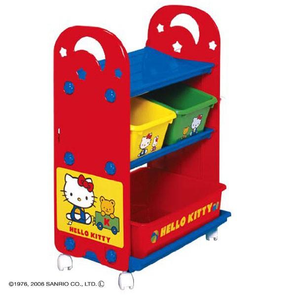 【おもちゃ収納収納ラック収納ケースお片付け子供部屋収納ボックス錦化成ハローキティトイ・ステーションピップ】