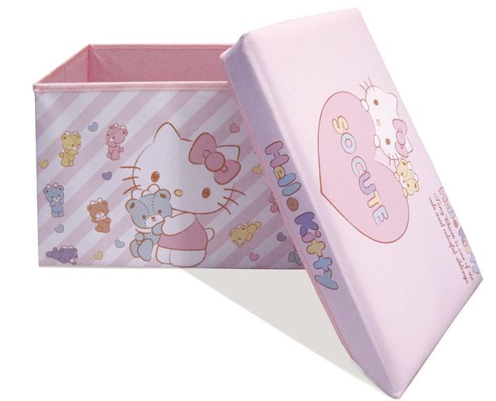 おもちゃ箱スツールたためるキッズ用品ハローキティストレージボックスシンセーインターナショナル