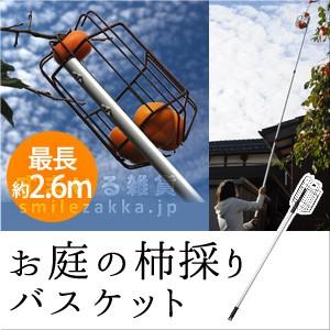 お庭の柿採りバスケット