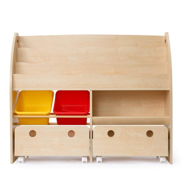 おもちゃ箱 収納 ラック ボックス トイ 子供 おしゃれ こども 木製 本棚 シェルフ おもちゃ ワイド sumica 21