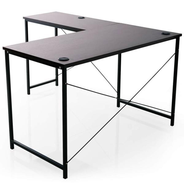 デスク パソコンデスク 机 幅140cm ライティング オフィス ワーク L字 コーナー つくえ 勉強 台 L字型 おしゃれ|sumica|21