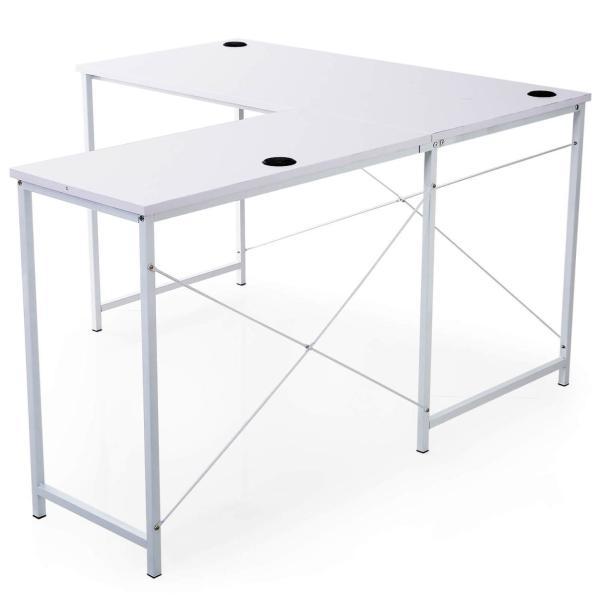 デスク パソコンデスク 机 幅140cm ライティング オフィス ワーク L字 コーナー つくえ 勉強 台 L字型 おしゃれ|sumica|22