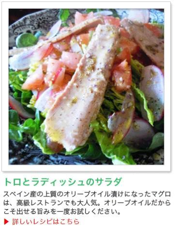 トロとラディッシュのサラダ