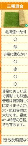三種混合ロール巻芝/100100