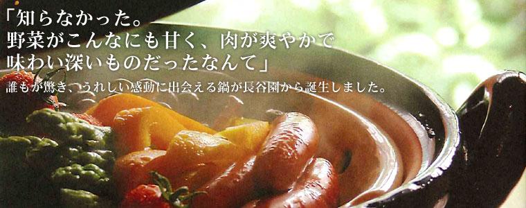 「知らなかった。野菜がこんなにも甘く、肉が爽やかで味わい深いものだったなんて」誰もが驚き、うれしい感動に出会える鍋が長谷園から誕生しました。