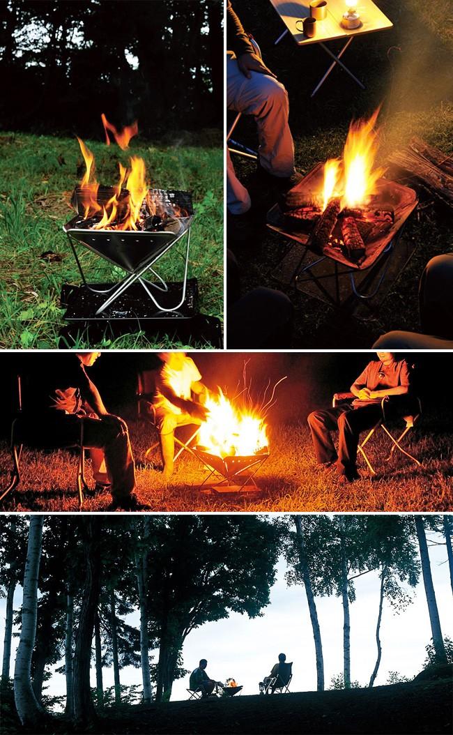 料理も会話も楽しくする一生の相棒、焚火台。 4枚の三角パネルを連結したシンプルかつタフな設計で、長くご愛用頂けます。 子どもに火を教えるきっかけとしても、焚火台は最適。 ファミリーキャンプのお供にどうぞ。 焚火を始めるのに必要なアイテムがリーズナブルなセットになりました。