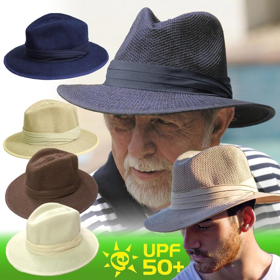 UVカット 帽子(男性用) , メンズ サンハット , ポリ コットン
